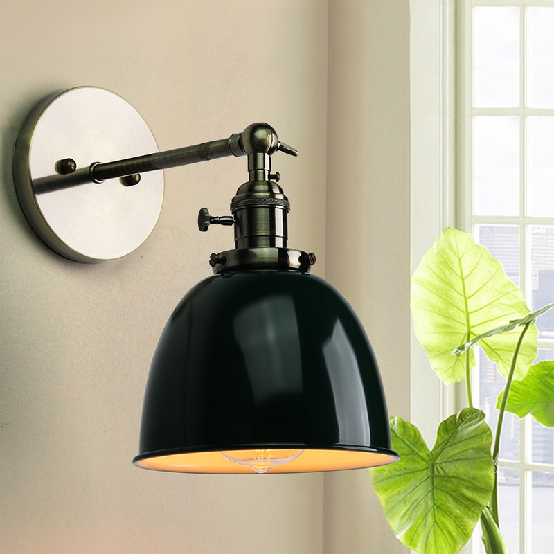 Smuxi Modern Retro Wall Lamp Vintage Loft Wall Light E27 Edison Bulb Plated Iron Retro Industrial Home Lighting Bedside Lamp
