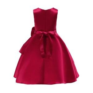 Image 4 - 2018 pembe kızlar prenses elbise çocuk akşam giyim çocuk örgün düğün parti Pageant elbise kızlar için balo elbisesi 7 8 9 yıl