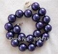 Большой 20 мм круглый синий south sea shell жемчужное ожерелье