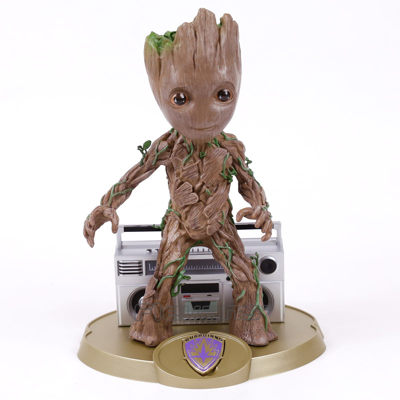 Guardians of the Galaxy 2 Tree Man with Radio Resin Statue Figure Collectible Model Toy Brinquedos 24cm 2016 new arrival the guardians galaxy mini dancing tree man action figure model toy doll