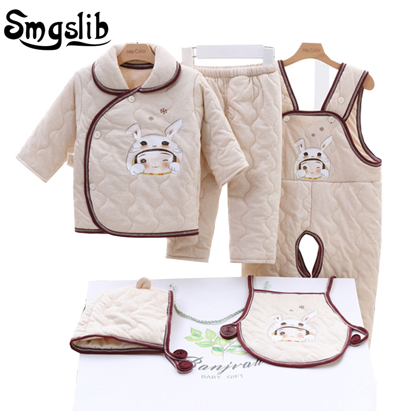 Smgslib baby girl clothes winter Autumn Cartoon Print cotton suit Children infant boy clothing Casual Tracksuits New Born Gift