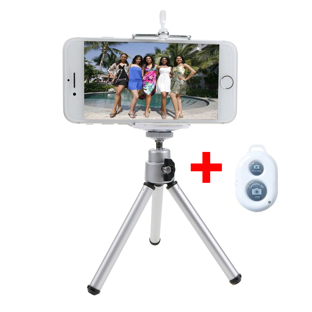 Bluetooth Selfie Stick Mini Tripod Phone Holder Bracket Bluetooth Shutter Remote Controller for iPhone Android Phone