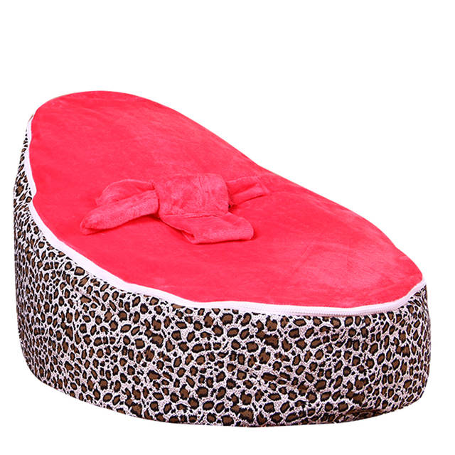 Levmoon Medium Leopard Print Bean Bag Chair Kids Bed For Sleeping Portable Folding Child Seat Sofa Zac Without The Filler