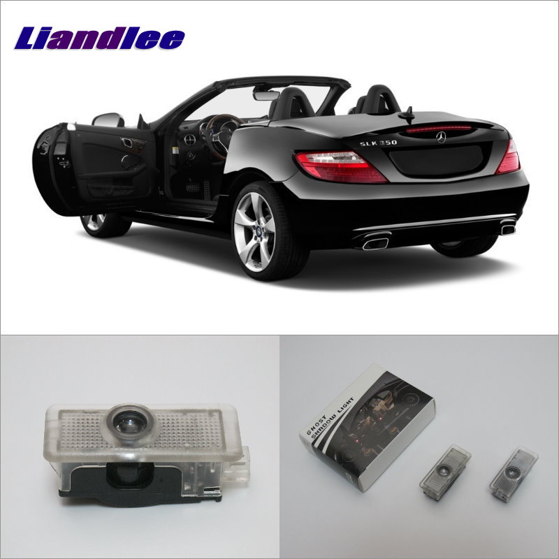 Liandlee Welcome Light Shadow LED Laser Projector Logo For Mercedes Benz SLK 2012~2016 Courtesy Doors Lights Accessories Parts 2pcs door ghost shadow lights car styling logo led projector welcome light courtesy doors lamp for mercedes benz cla 2012 2013