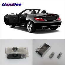 Liandlee Welcome Light Shadow LED Laser Projector Logo For Mercedes Benz SLK 2012~2016 Courtesy Doors Lights Accessories Parts