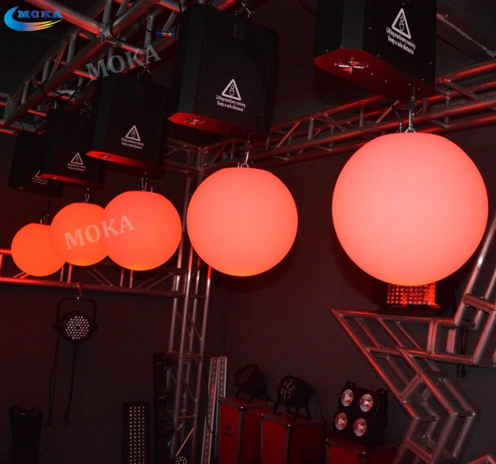 2 Pcs/lot LED boule de levage colorée DMX stade ascenseur balle vers le bas suspendus LED RGB lumière Ficker gratuit ascenseur fête événement