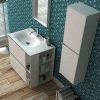 800mm Bathroom Furniture Free Standing vanity Stone Solid Surface Blum Drawer Cloakroom Floor Mounted Cabinet Storage 2945