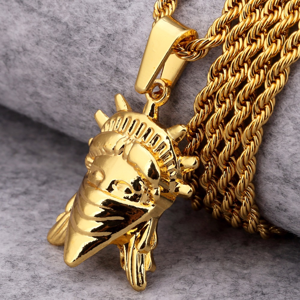 Bling Pendants Statue Of Liberty Men\Women Charms American Rebel Jewelry  Gifts Necklaces New York Hip Hop Chains (32781433620)