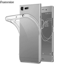 Transparent Silicone case For Sony Xperia X XA1 XZ Premium XZ1 Compact XA Ultra Clear Soft TPU Back Cover For Sony Xperia L1(China)