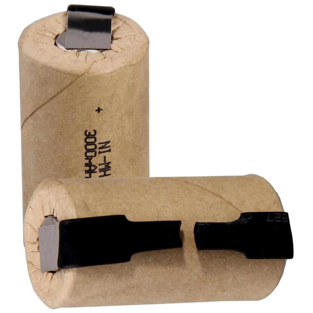 O mais baixo preço 2 peças sc bateria 1.2v baterias recarregáveis 3000 mah bateria nimh para ferramentas elétricas akkumulator