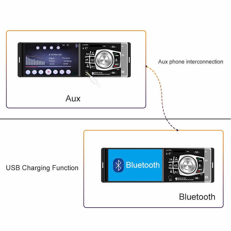 Автомагнитола 1 din 4012b FM радио авто аудио стерео Bluetooth Автомагнитола Поддержка камеры заднего вида рулевое колесо Contral