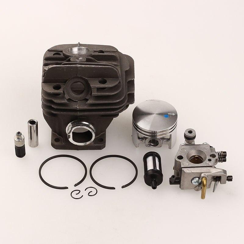 Conjuntos de Anillos de Pistón del cilindro De Aceite del Filtro de Combustible Piezas de la Motosierra STIHL 026 MS260 con Carburador 44mm