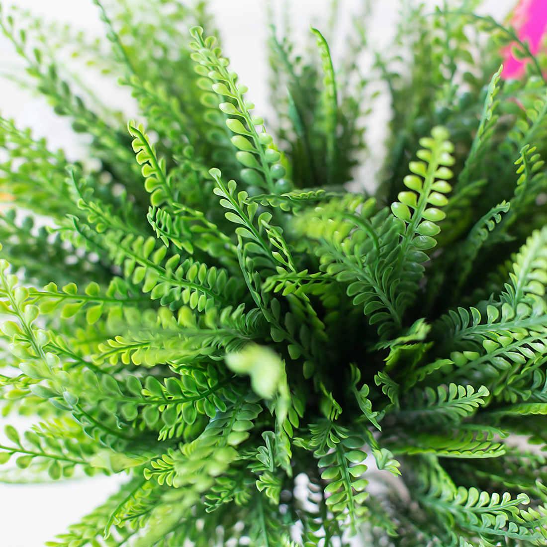 حار بيع النباتات 7-fork الأخضر العشب ل مخزن حفل زفاف الوجهة الزهور البلاستيكية المنزلية ريفي الديكور النباتات وهمية