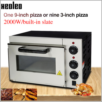 XEOLEO Pizza oven machine Pizza baking oven Electric ovens Commercial Stainless steel Pizza baker machine 14 inch ~350 degree