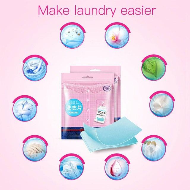 20 pz Bucato Per Uso Domestico Compresse di Colore di Protezione Polvere di Sapo