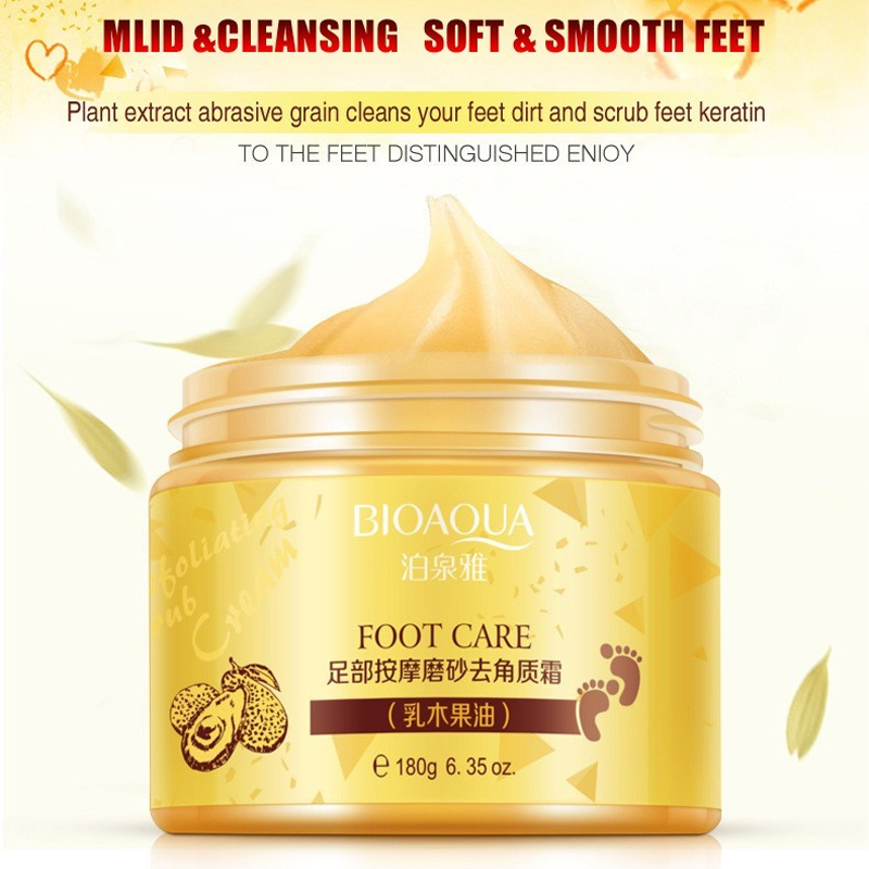 BIOAQUA Foot Massage Scrub Cream Skin Anti Wrinkle Whitening Exfoliating Repair Rough Smooth Moisturizing Feet Massage Cream цены