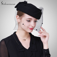 Sedancasesa Fashion Female Casual Classic Solid Color Berets Caps Hats Women Autumn Winter Woolen Cap Mesh Beret for Women