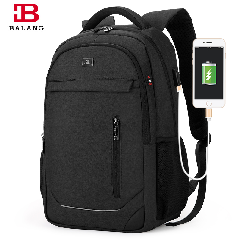 BALANG Brand Design Men Fashion 15.6 Inch Laptop Bag Waterproof backpack Women Travel School Notebook Computer Bag USB Charging