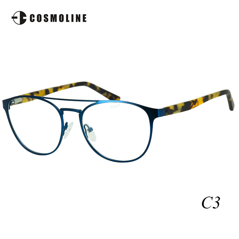 Cosmoline marke neue runde glas rahmen für frauen frauen metall ...