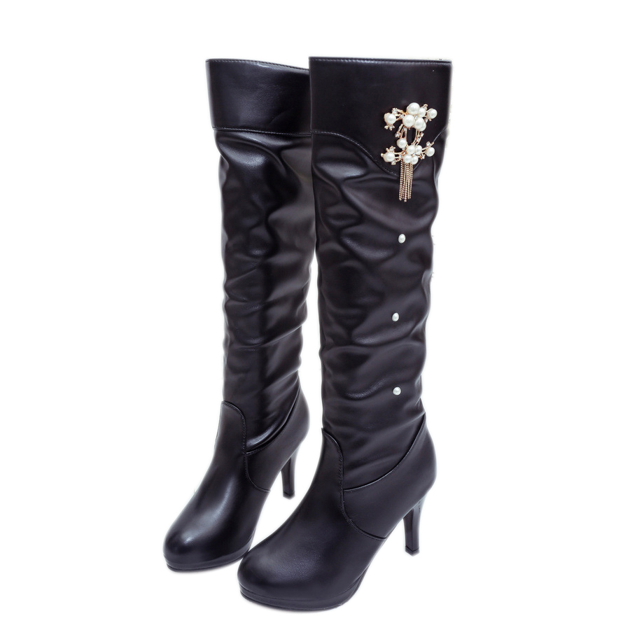 Spring Autumn Classic Black Style High Heel Women Boots Over The Knee Waterproof Women's Boots Sexy Ladies Party Shoes silver s edit teenage mutant ninja turtles rise of the turtles level 1 cd