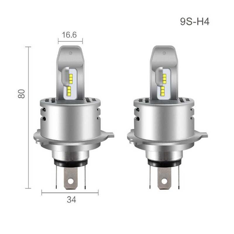 2 قطعة الصمام العلوي H7 H4 H1 H11 H8 H9 HB3 9005 HB4 9006 9012 HIR2 لمبة ZES رقائق 80 W 12000lm 6000 K 12 V البسيطة سيارات ضوء