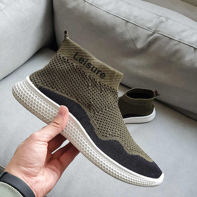 New Men Sneakers Casual Shoes Breathable Lace-up Adult Male Tenis Footwear Stylish Soft Light Design Anti-skid Leisure Shoes