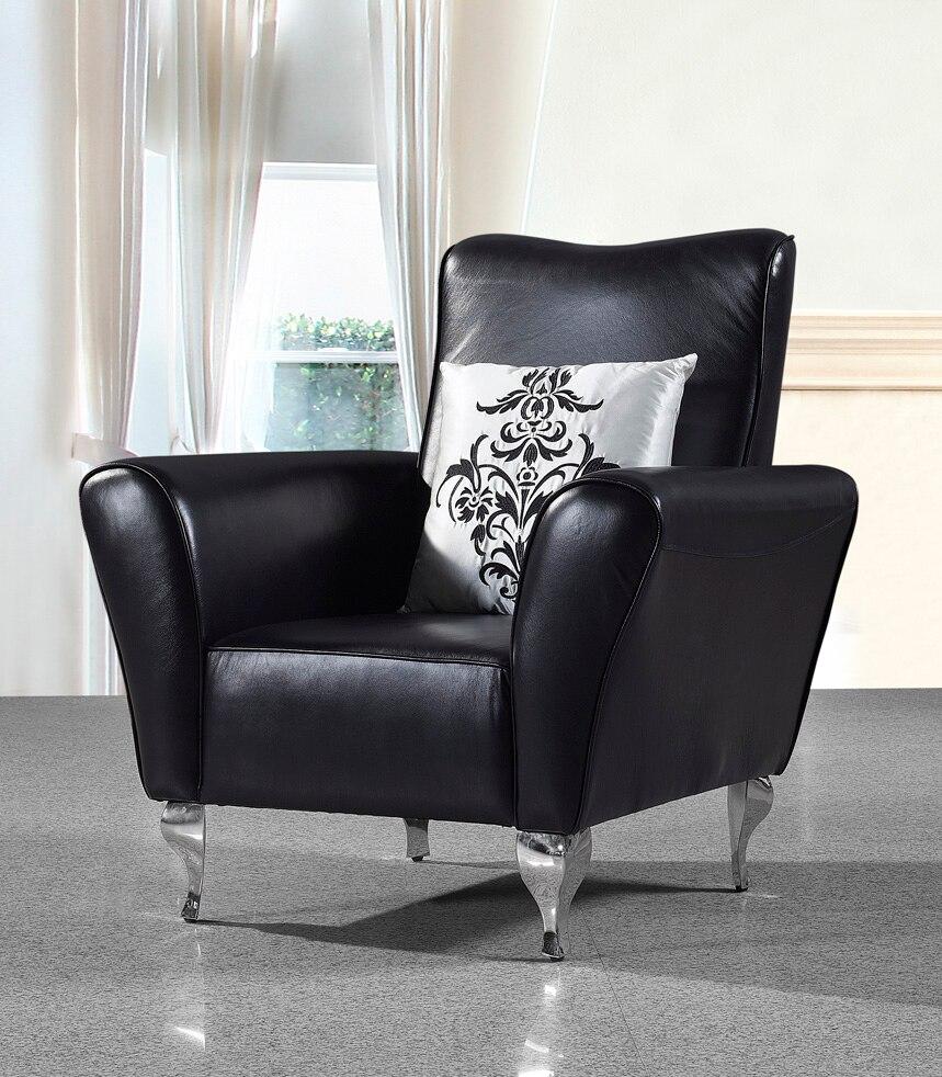 Стул из натуральной коровьей кожи/стул для отдыха из натуральной кожи/стул для гостиной, мебель для дома, современный стиль, ножки из нержав