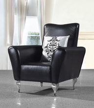 cow genuine leather chair/real leather leisure chair / living room chair home furniture post modern style stainless steel legs