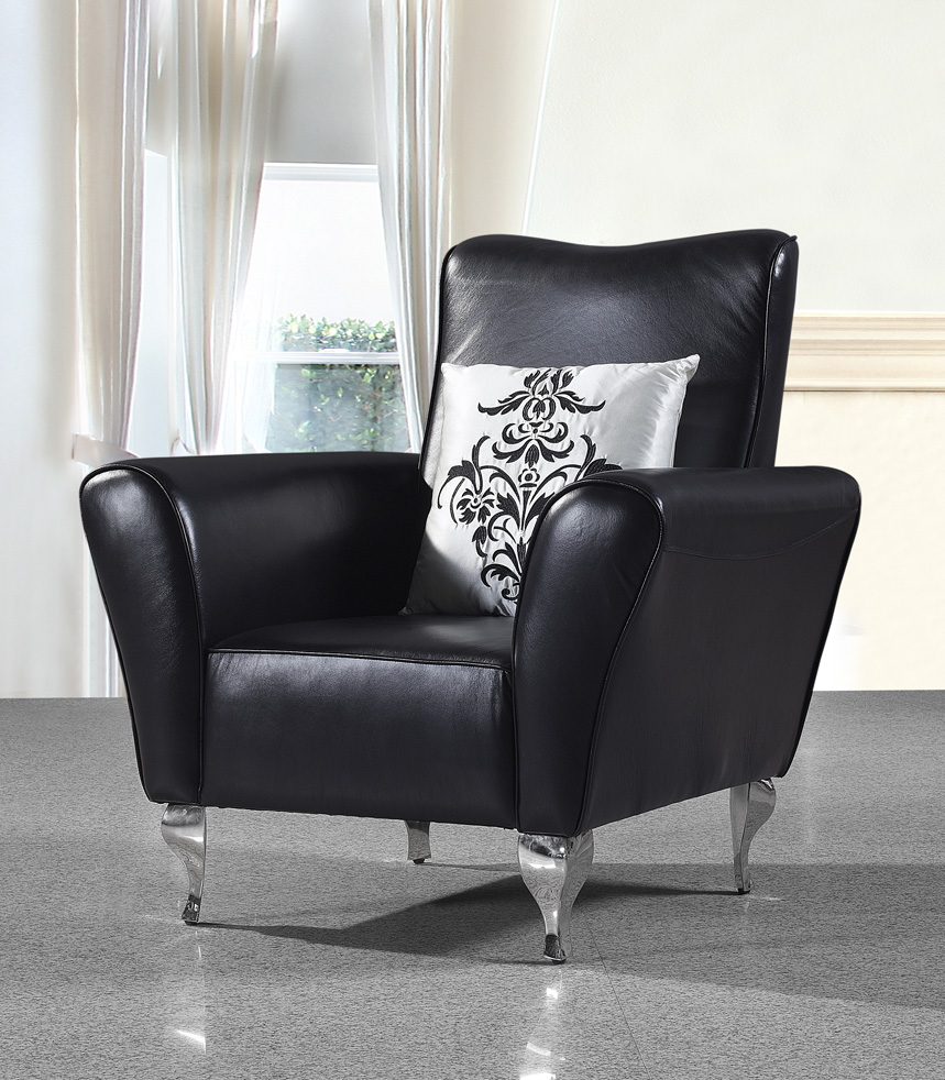 Post modern style furniture - Cow Genuine Leather Chair Real Leather Leisure Chair Living Room Chair Home Furniture Post