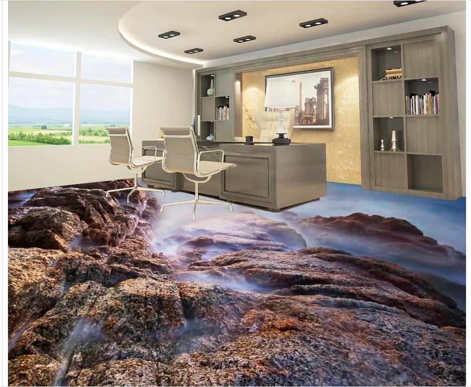 3d Farbe Stein Fliesen Badezimmer Boden Wohnzimmer Pvc Wasserdichte