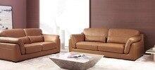 Vaca genuino / real sofás de cuero salón sofá seccional / sofá de la esquina de muebles para el hogar sofá / 2 + 3 plazas