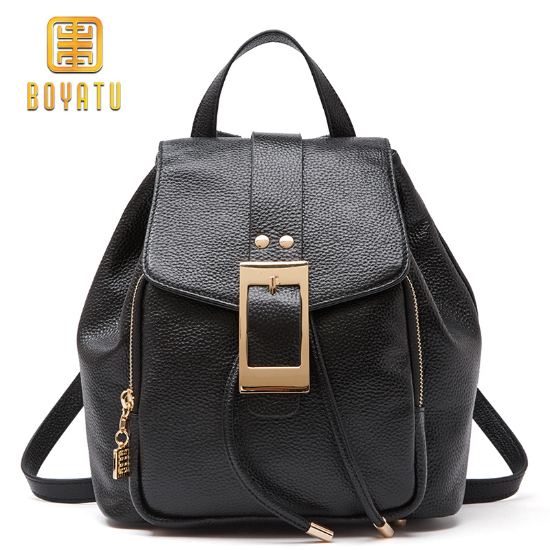 Luxury Genuine Leather Backpack For Women Casual School Backpack For Teenage girl Daypacks Fashion Shoulder Bag Female 2019Luxury Genuine Leather Backpack For Women Casual School Backpack For Teenage girl Daypacks Fashion Shoulder Bag Female 2019