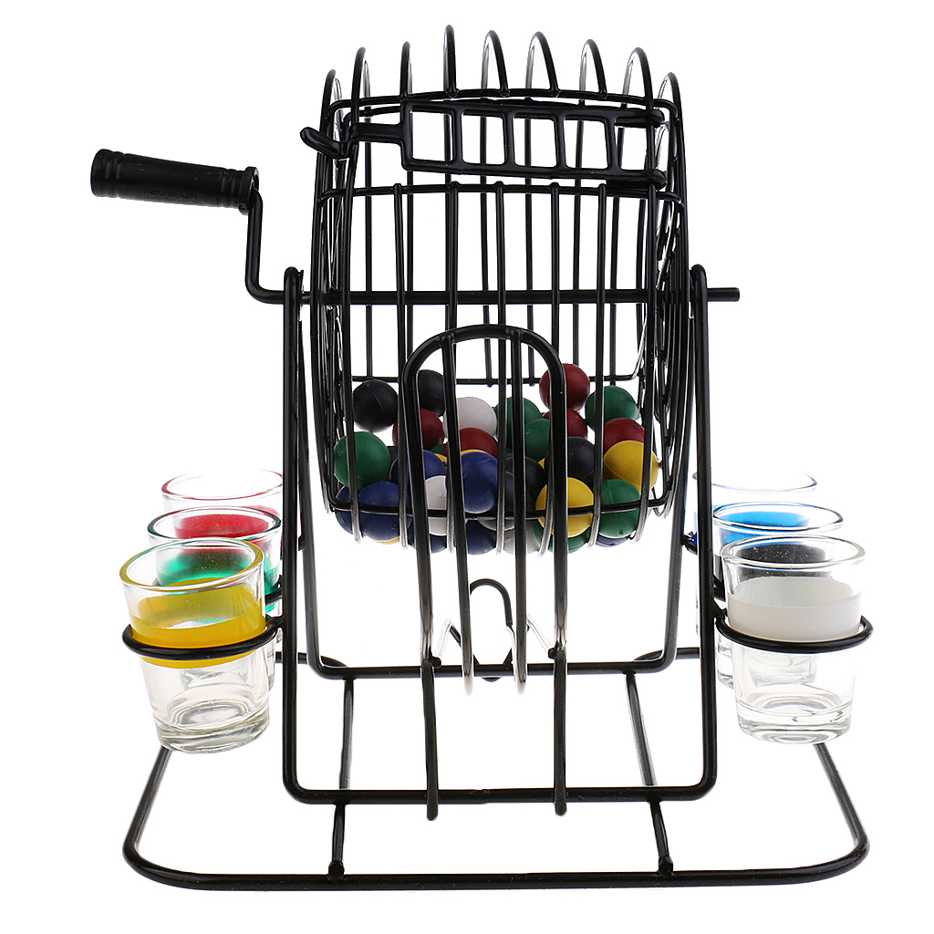 Metal Mini Bingo Machine Drinking Game Set for Party Home Pub Fun Entertainment Game
