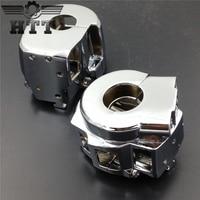Motorcycle Parts Chrome Switch Housing Cover For Suzuki GSXR600 GSXR750 GSXR1000 Hayabusa GSXR1300