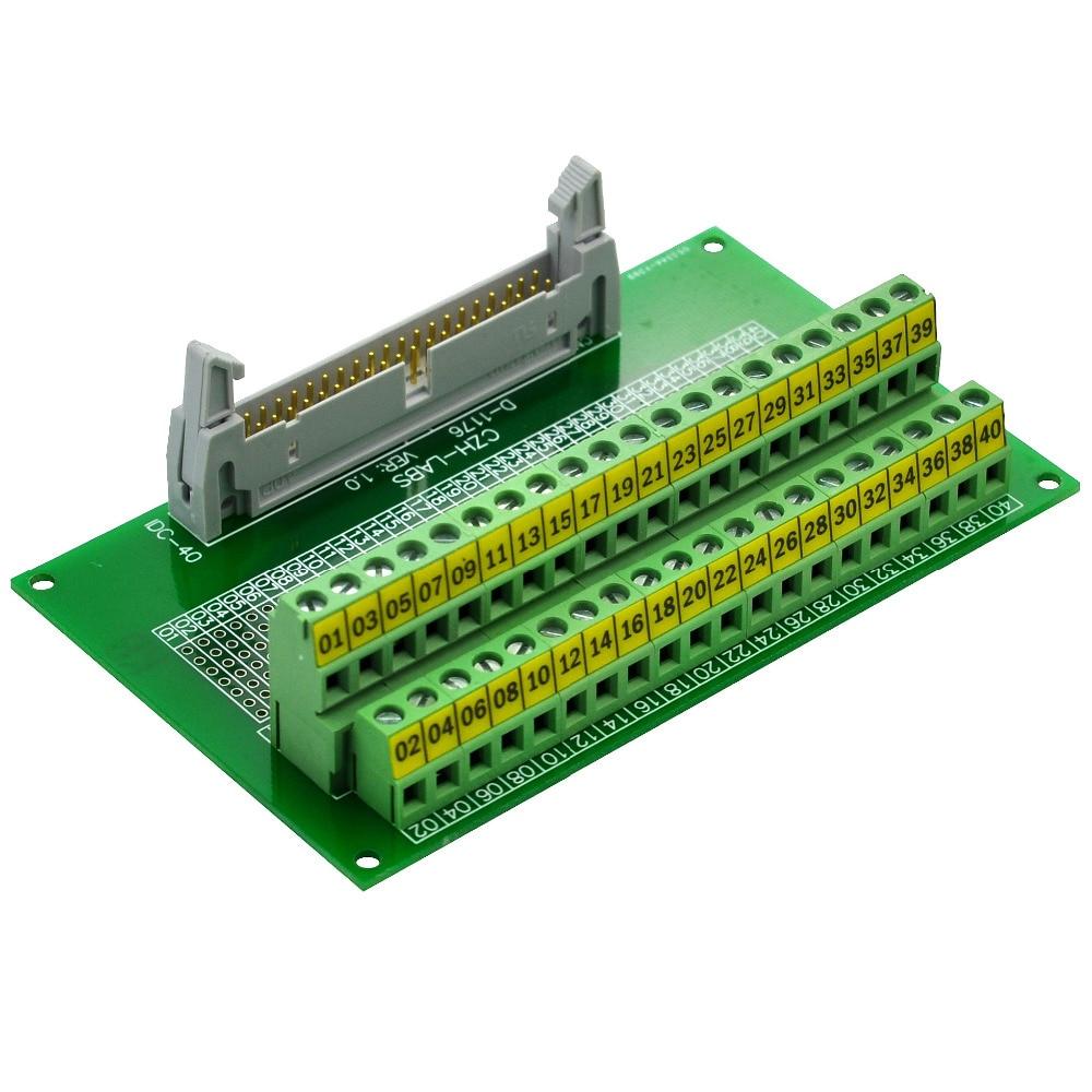 CZH-LABS IDC-40 Male Header Connector Breakout Board Module, IDC Pitch 0.1