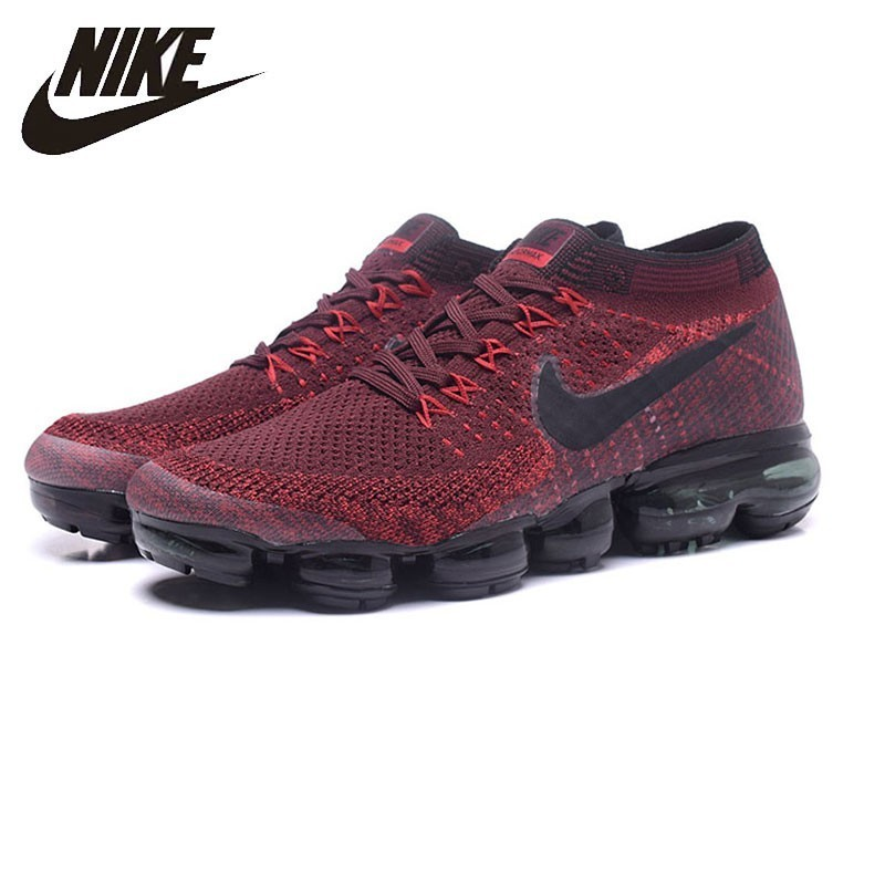 Nike Air Vapormax Flyknit Comfortable Men's Running Shoes Black&red Breathable Sneakers Shoes 849558-601 кроссовки nike free flyknit 4 0 631053 601