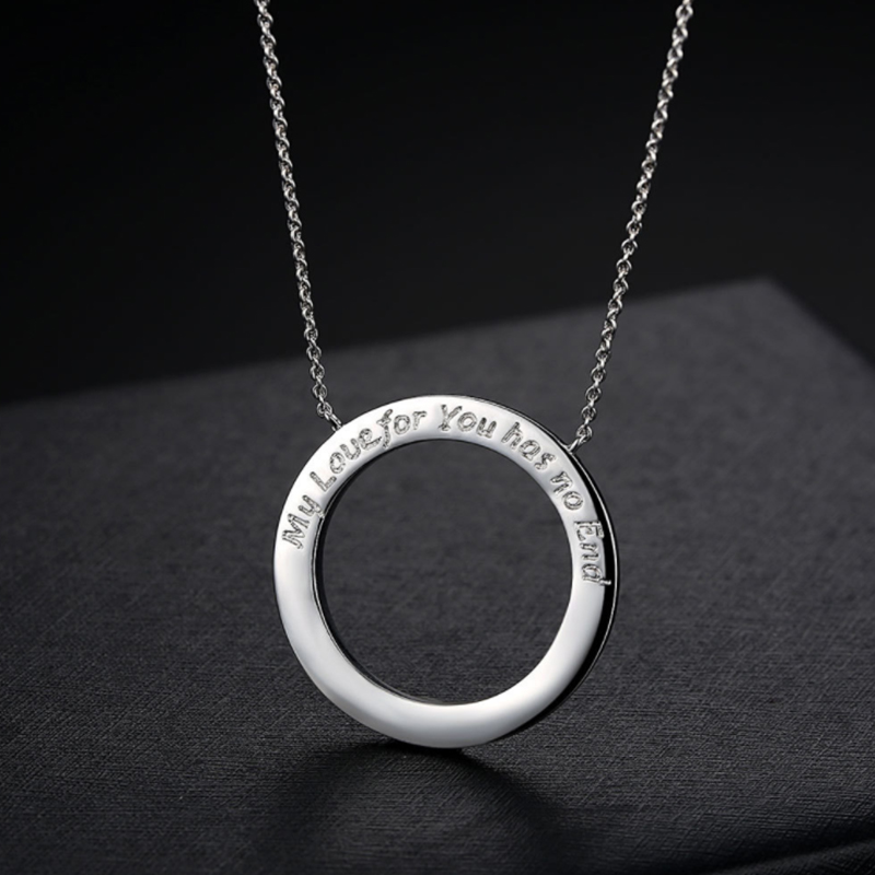 My love for you has no end fashion lettering english love necklace my love for you has no end fashion lettering english love necklace love eternal circle big pendant in pendant necklaces from jewelry accessories on mozeypictures Image collections