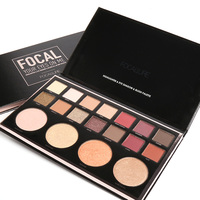 FOCALLURE Eyeshadow Palette 14 Colors Eyes Shadow And 4 Colors Blush Highlighter Palette Matte Diamond Glitter