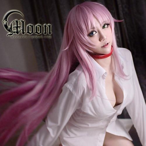 Mcoser Beautiful Cm Sexy Women Cosplay Anime K Neko Long Pink Wig