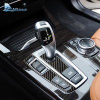 Airspeed Carbon Fiber Gearshift Panel Frame Stickers Gear Knob Cover For BMW 5 Series GT F07