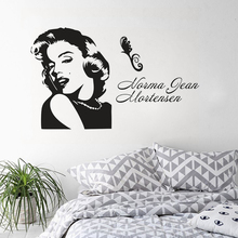 Marilyn Monroe Portrait Wall Sticker Girls Room Poster Home Decor Famous Vinyl Decal Art AY1500