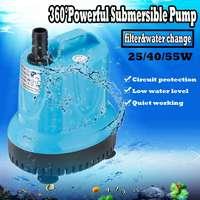 25/40/55 W ультра-тихий погружной насос для водного фонтана фильтр Средний аквариум для рыбок Для аквариумной воды концентратный зумпф фонтан ...
