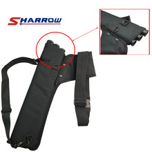 SHARROW Black Oxford Material Three Tube Qiver Bag Arrow Carbon Bamboo Wood Adult Youth Shooting Hunting Use