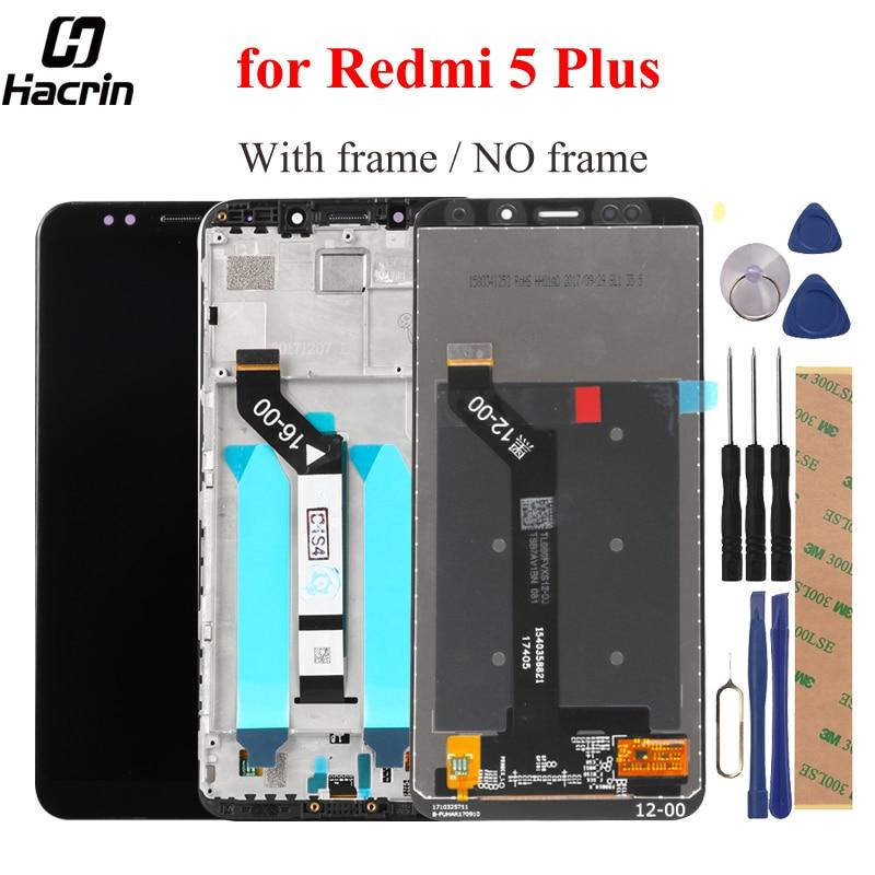 Pour Xiaomi Redmi 5 Plus LCD Affichage à L'écran Tactile Avec Cadre FHD 5.99 Digitizer Assemblée Remplacement Pour Redmi5 Plus lcd écran