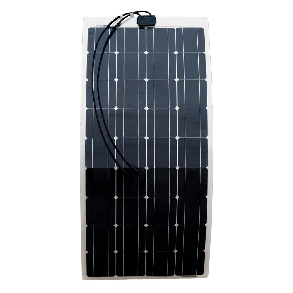 ECO-WORTHY 2PCS 100w semi flexible solar panels 200watt portable mono solar modules with 15A Solar Charger Controller