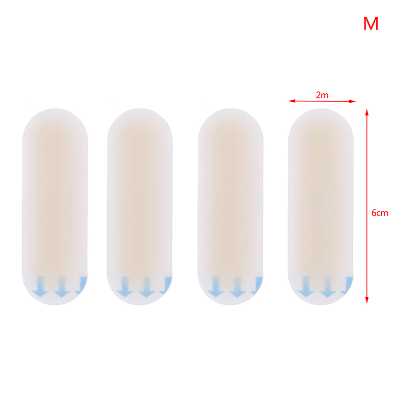 Купить с кэшбэком 4Pcs/Set Silicone Gel Sticker Patch Foot Heel Protector Adhesive Hydrocolloid Blister Plaster Anti-wearing Heel Women's Fashion
