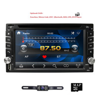win ce 6.0 6.2 inch Capacitive screen GPS navigation In Dash Universal Car DVD Player Radio Stereo BT rear camera SWC DAB CAM IN