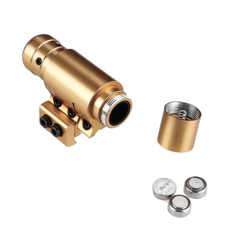Hunting Compact Mini Adjustable Visible Tactical Red Dot Laser Gold Color Scope Sight for Paintball Rail Military Gear Equipment