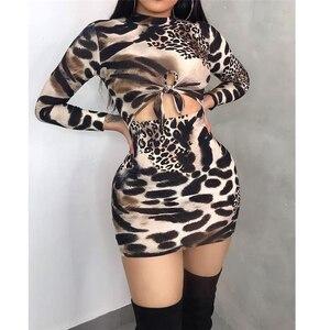 Женское облегающее платье-карандаш, элегантное обтягивающее платье из змеиной кожи, привлекательное праздвечерние чное мини-платье с откр...