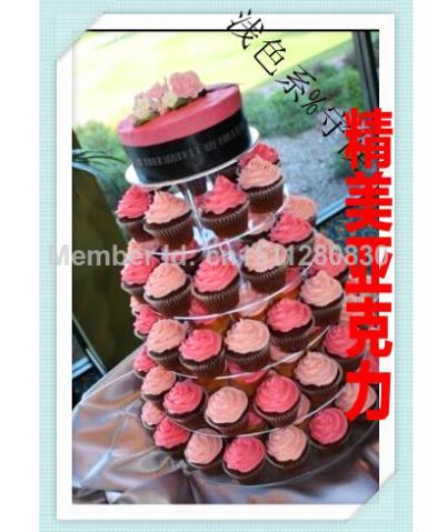6 livello di Coreano acrilico torta di frutta Disco pomeriggio cuore di moda creativa di compleanno di cerimonia nuziale acrilico del bigné di standdecoration
